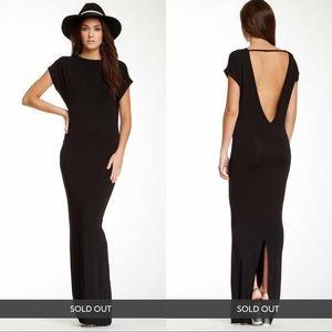 YFB Jaxon Deep V-Neck Back Maxi Dress